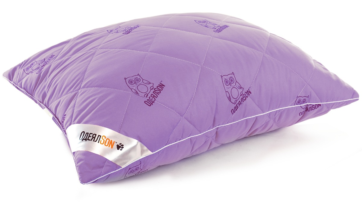 Подушка ОдеялSon Сова, 50*70 см, цвет: фиолетовый323-ПСС-615уПодушка стеганая.