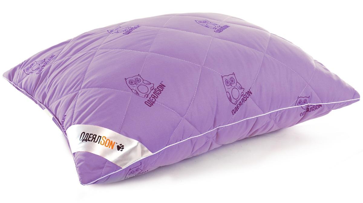 """Подушка ОдеялSon """"Сова"""", 70*70 см, цвет: фиолетовый"""