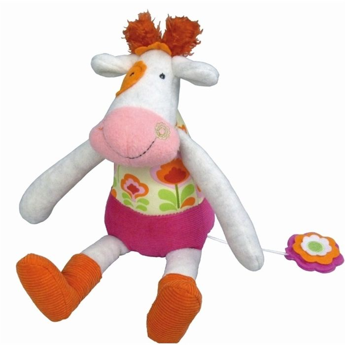 Музыкальная игрушка Ebulobo Коровка Молли babyono музыкальная игрушка подвеска коровка