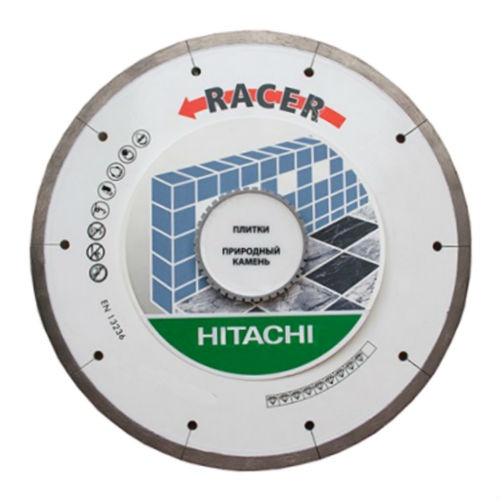 Алмазный диск Hitachi 125мм RACER /1,4x14/ по керамической плитке. цена