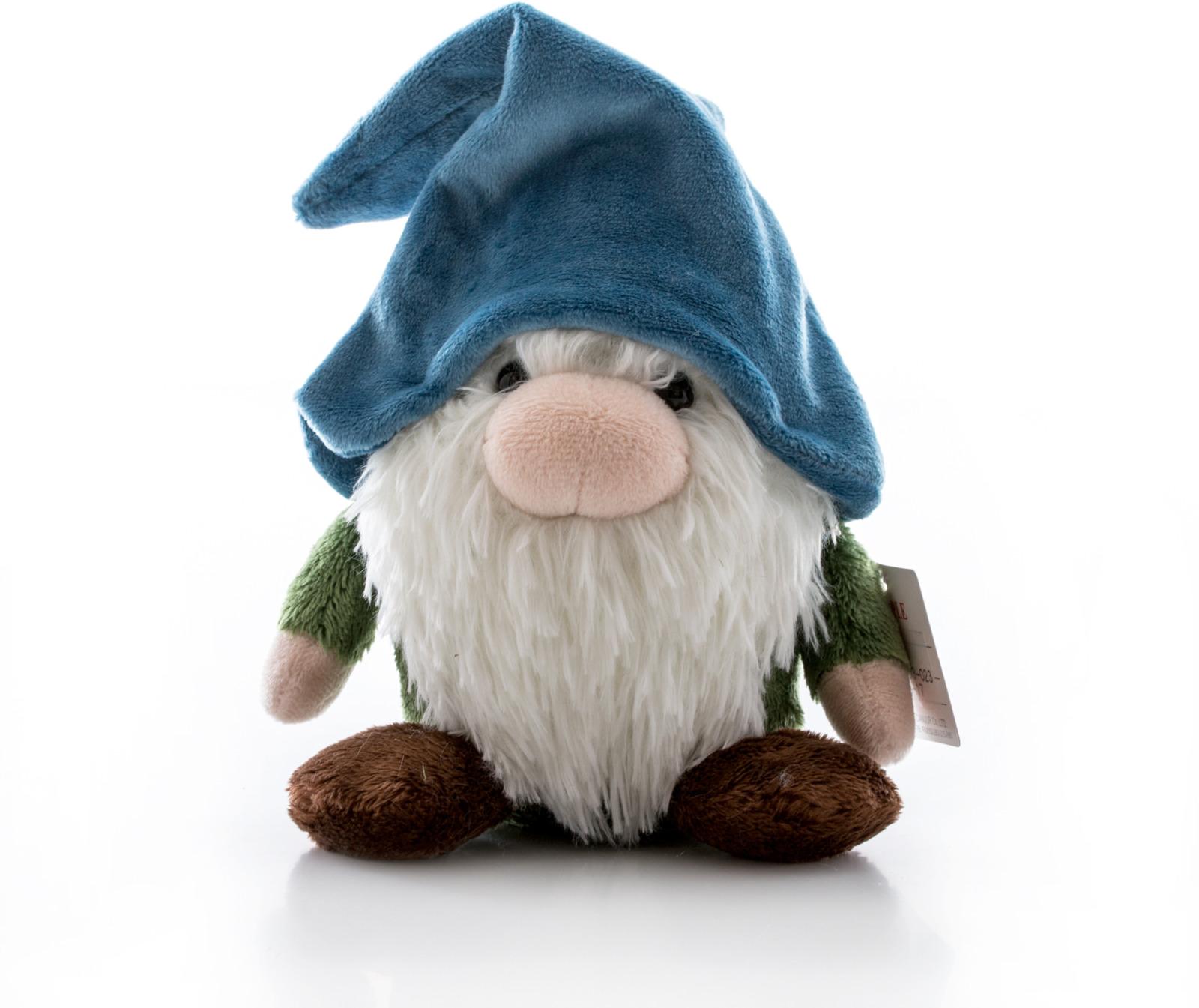 Игрушка мягкая Aurora Гном, цвет: синий, 35 см цена