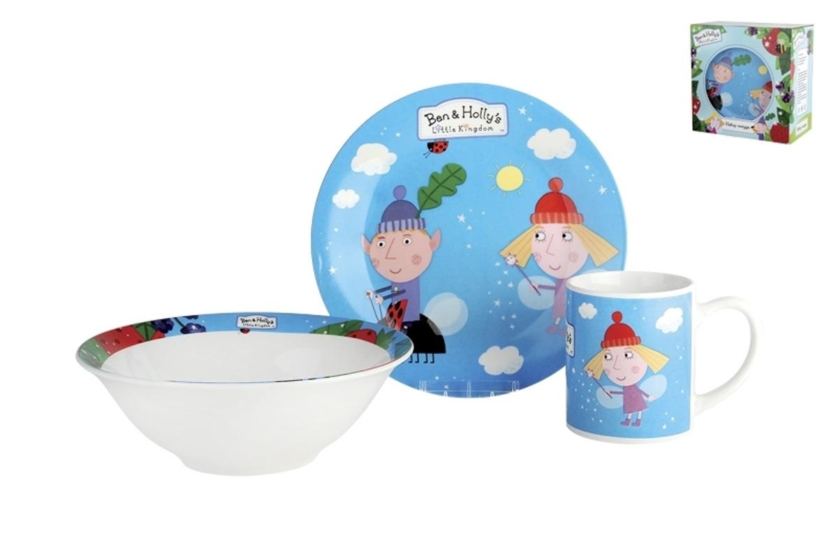 Набор детской посуды Коралл, 3 предмета. 942967 набор детской посуды маша и медведь фруктовая корзина 3 предмета