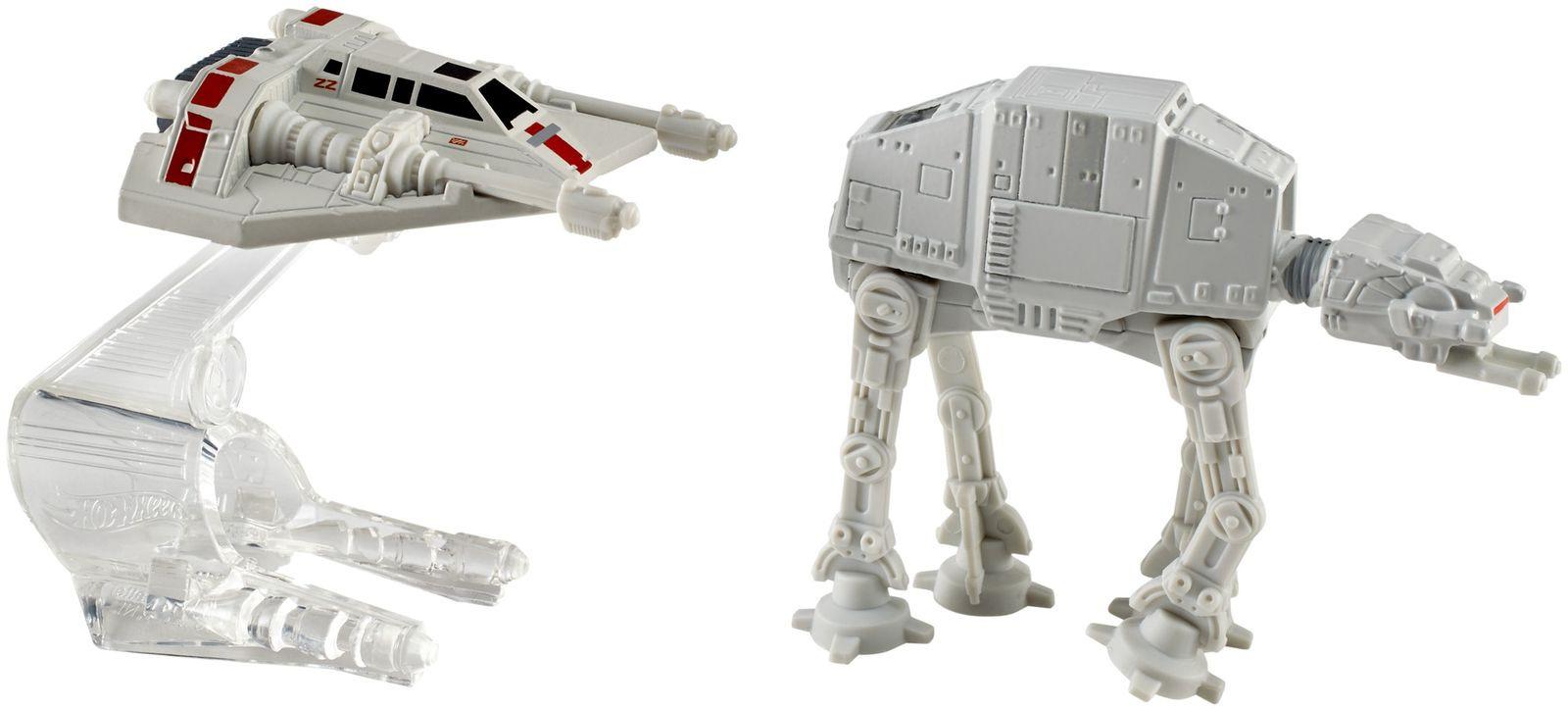 Hot Wheels Star Wars Звездные корабли AT-AT vs Rebel Snowspeeder набор mattel hot wheels 2 звездных корабля star wars tie fighter vs ghost cgw90