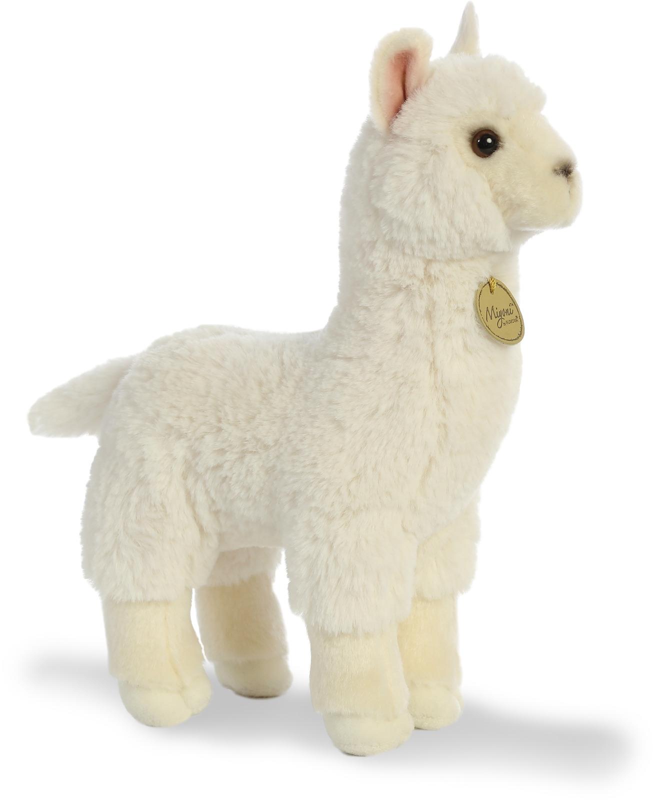 Игрушка мягкая Aurora Альпака, 30 см170542AОчаровательная плюшевая альпака от производителя Aurora. Игрушка очень приятна на ощупь, шёрстка альпаки — белого цвета, а глазки и носик — темные. Рекомендуем!