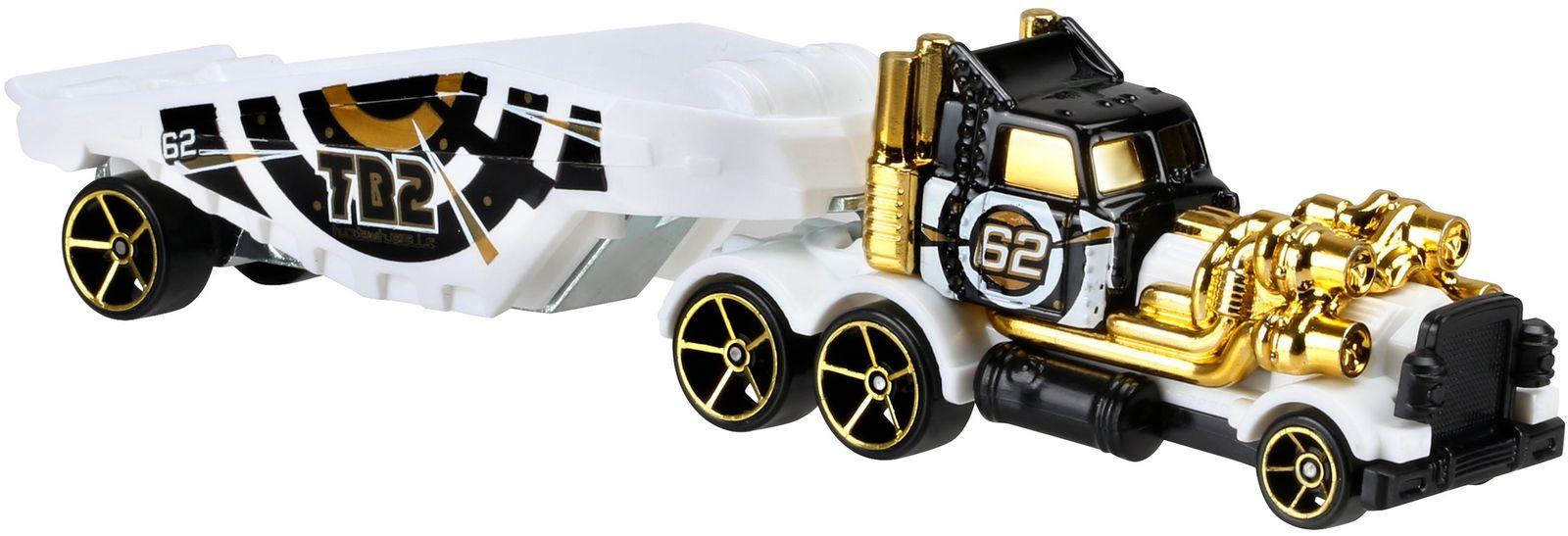 Hot Wheels Трейлер Turbo Beast цвет белый черный золотистый hot wheels track stars трейлер aero blast