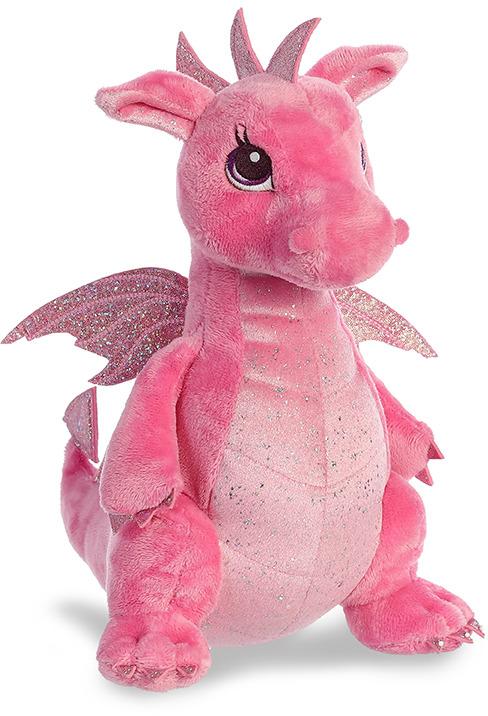 """Игрушка мягкая Aurora """"Дракон"""", цвет: розовый, 30 см"""
