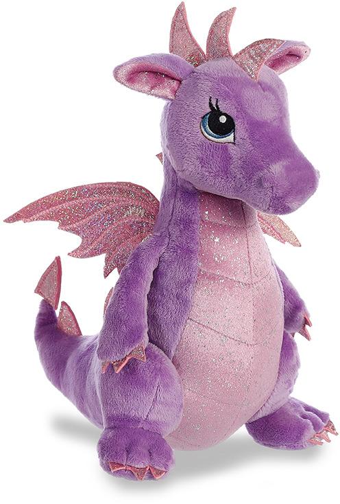 """Игрушка мягкая Aurora """"Дракон"""", цвет: фиолетовый, 30 см"""
