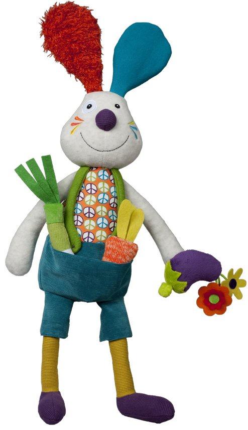 """Развивающая игрушка Ebulobo """"Кролик Джеф"""", цвет:серый, 45 см. E30014"""