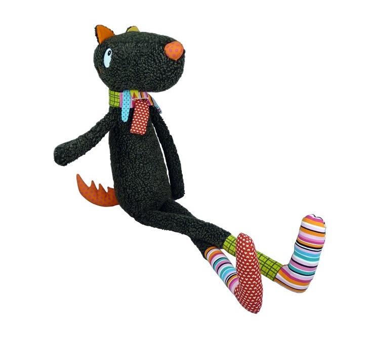 """Мягкая игрушка Ebulobo """"Синьор Волк"""", цвет:черный, 100 см. E10040"""