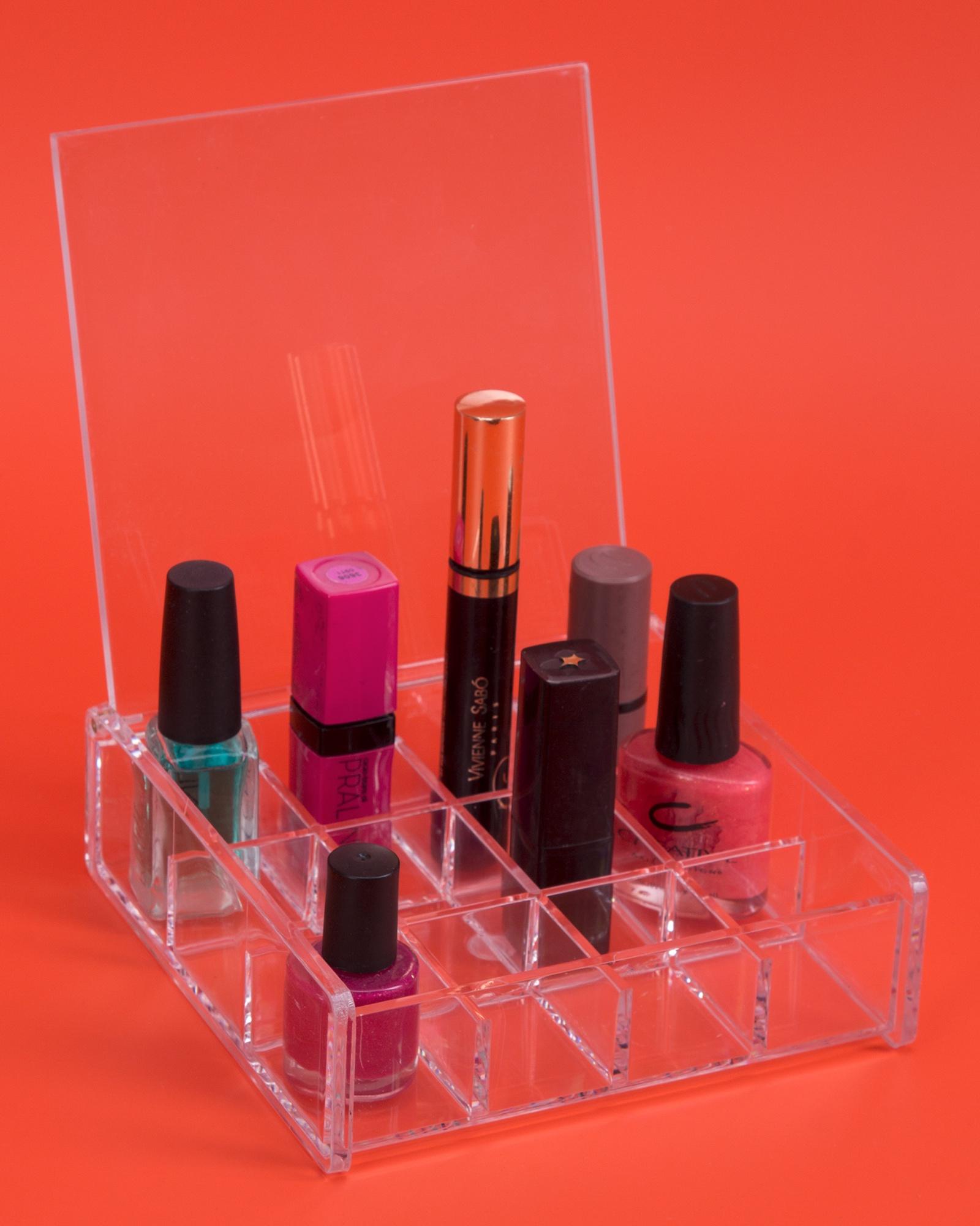 Органайзер для косметики IsmatDecor, S-318, акрил, прозрачный органайзер подвесной с 6 отделениями