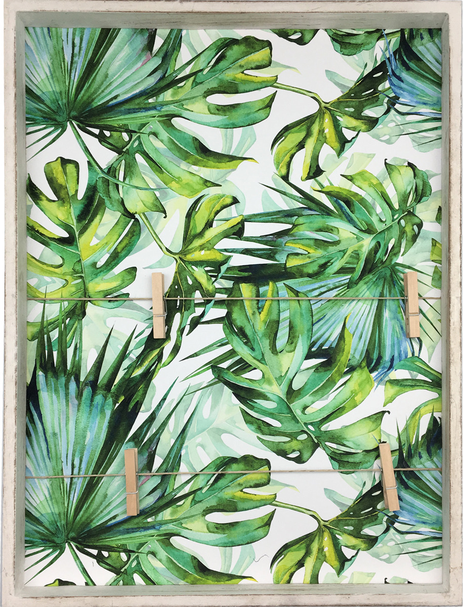 Декоративная картина You'll Love Листья, с зажимами, 40 x 30 x 3,5 см цена