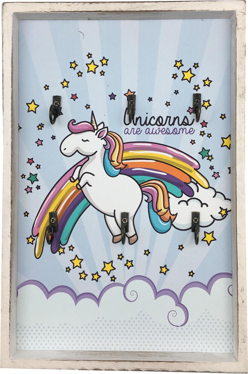 Декоративная картина You'll Love Единорог, с крючками, 20 х 30 х 2,5 см цена