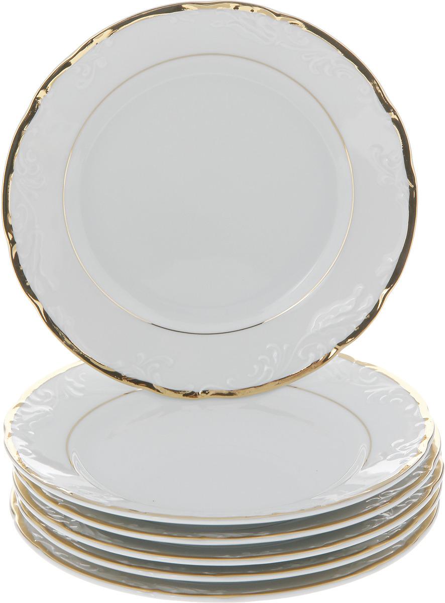 "Тарелка десертная Thun ""Белоснежный тюльпан"", диаметр 19 см, 6 шт"