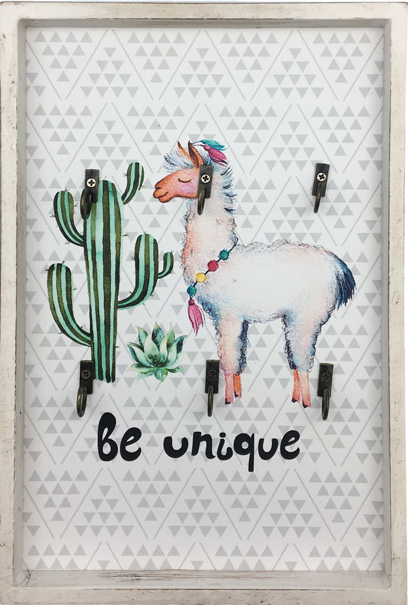 Декоративная картина You'll Love Альпака с кактусом, с крючками, 20 х 30 х 2,5 см цена