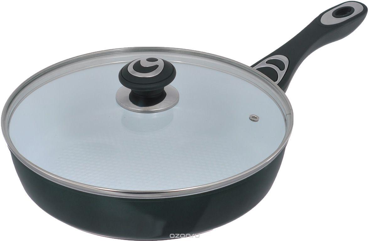 Сковорода Bohmann 7514BH, диаметр 24 см, керамическое покрытие, цвет: зеленый сковорода bohmann 372124вн серый диаметр 24 см