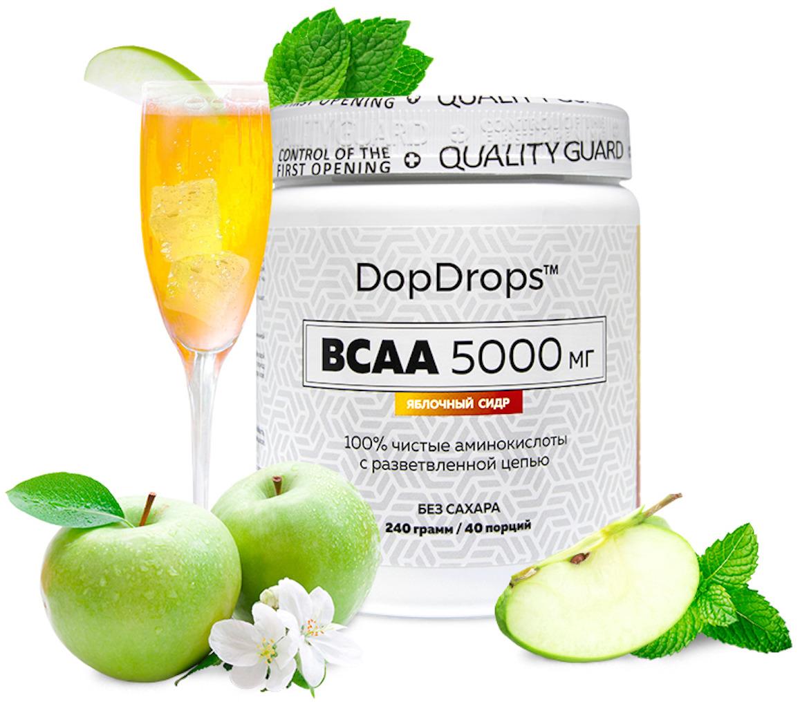 BCAA DopDrops, яблочный сидр, 240 г