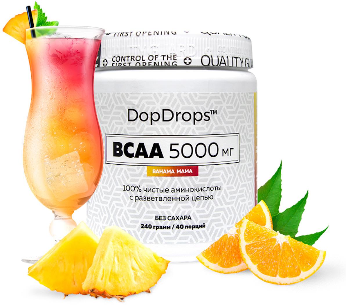 BCAA DopDrops, Bahama Mama, 240 г