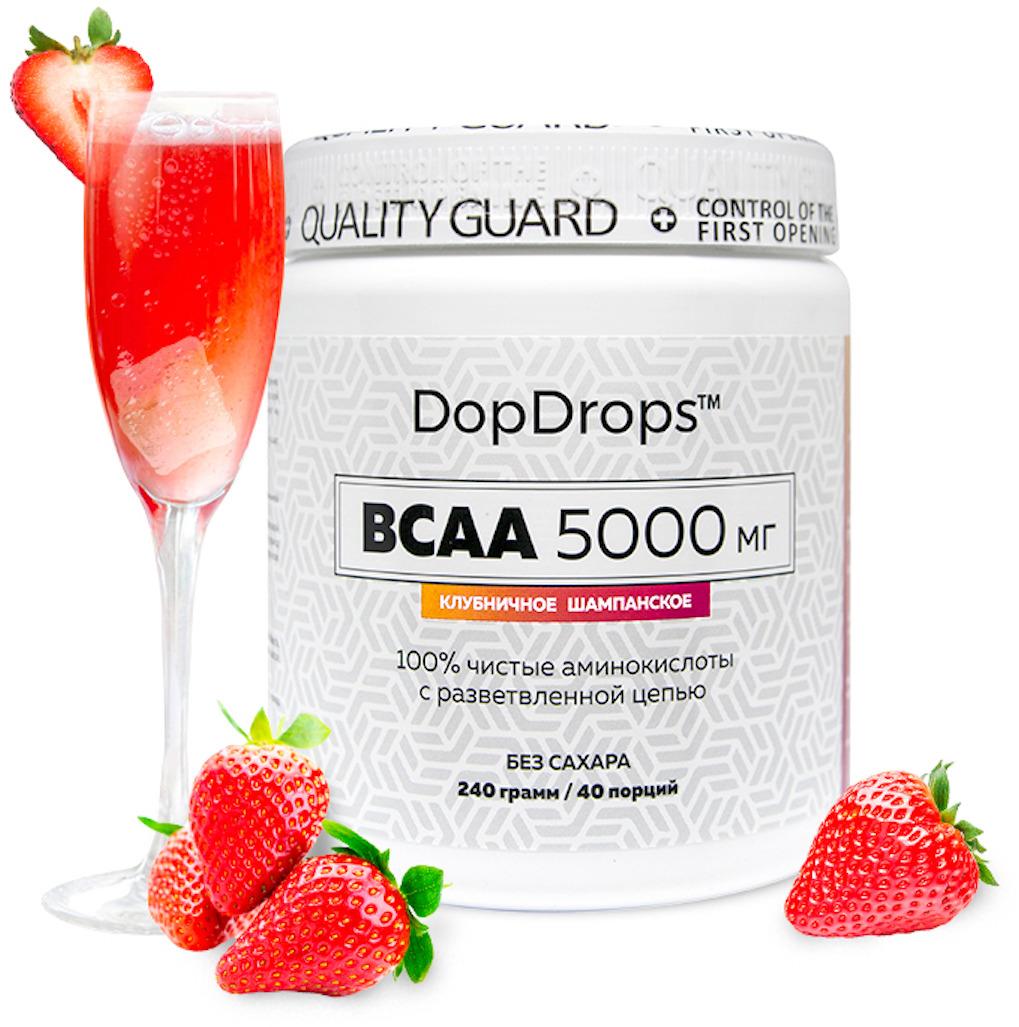 BCAA DopDrops, клубничное шампанское, 240 г