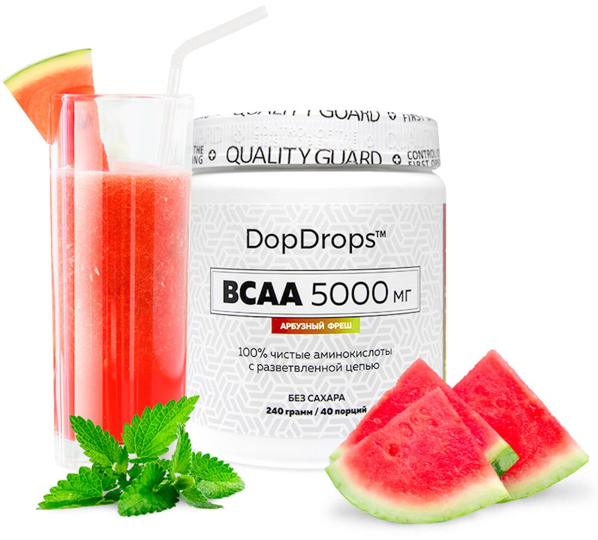 BCAA DopDrops, арбузный фреш, 240 г