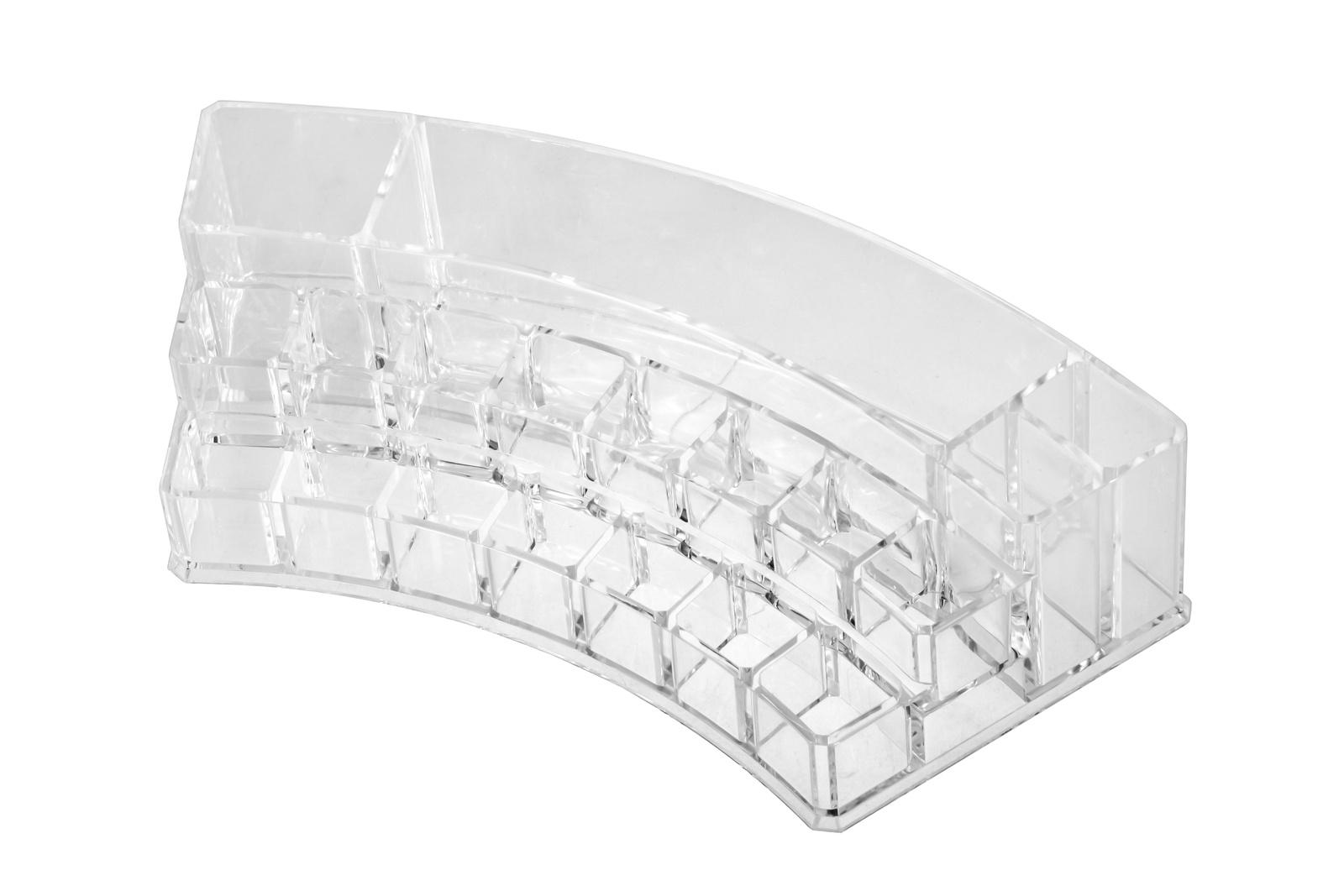 Органайзер для косметики IsmatDecor, S-319, акриловый, прозрачный