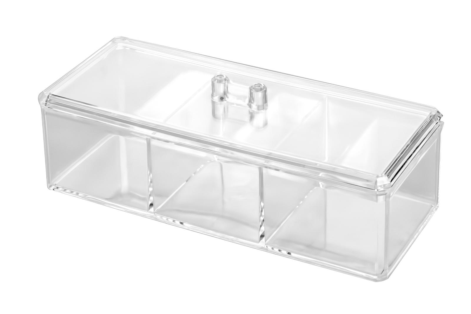 Органайзер для косметики акриловый, S-322 прозрачный органайзер подвесной с 6 отделениями