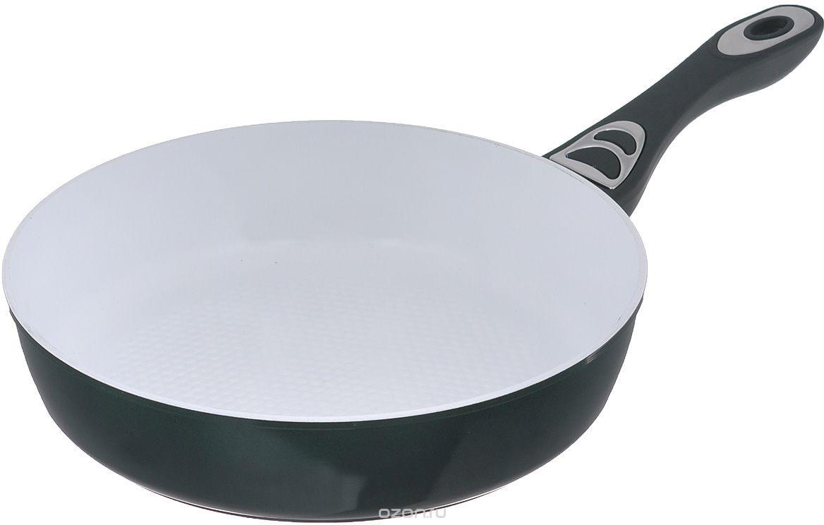 Сковорода Bohmann, цвет: зеленый. Диаметр 22 см