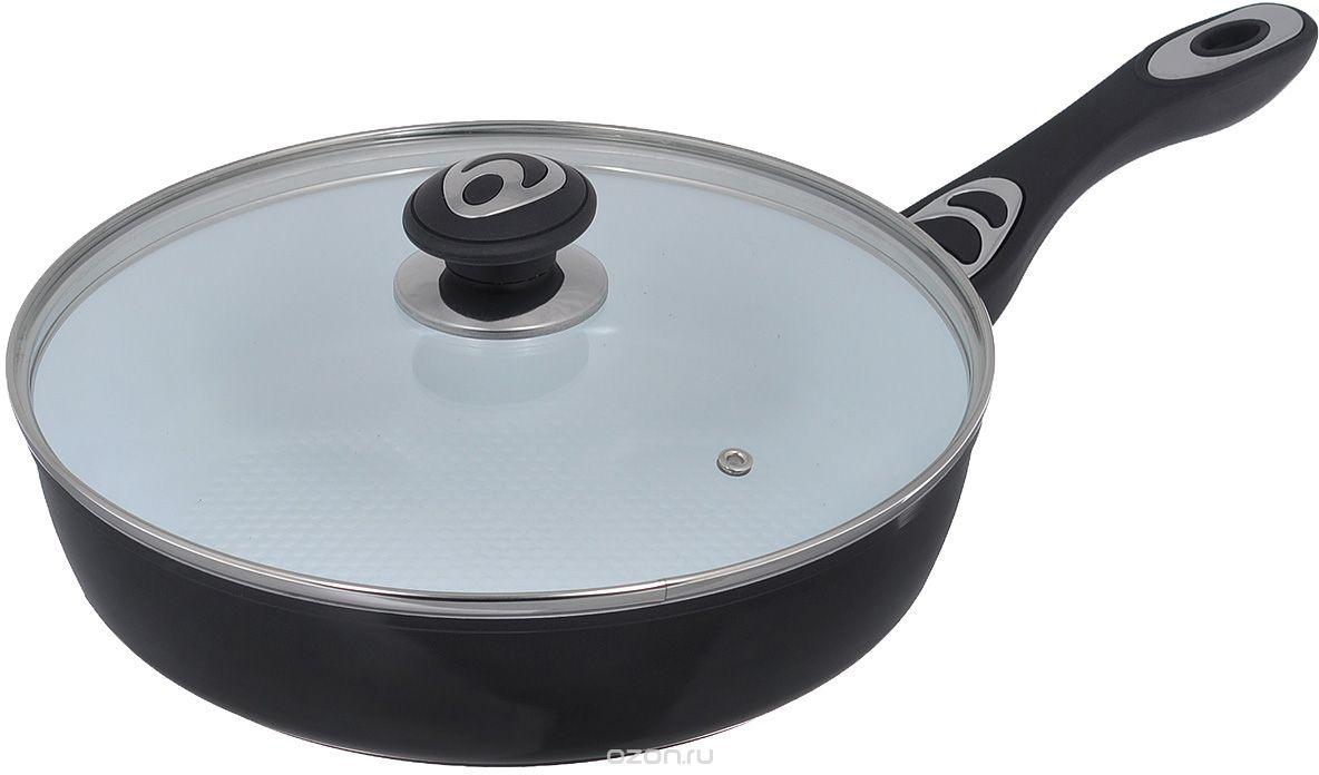 Сковорода Bohmann 7512BH, диаметр 22 см, керамическое покрытие, цвет: черный