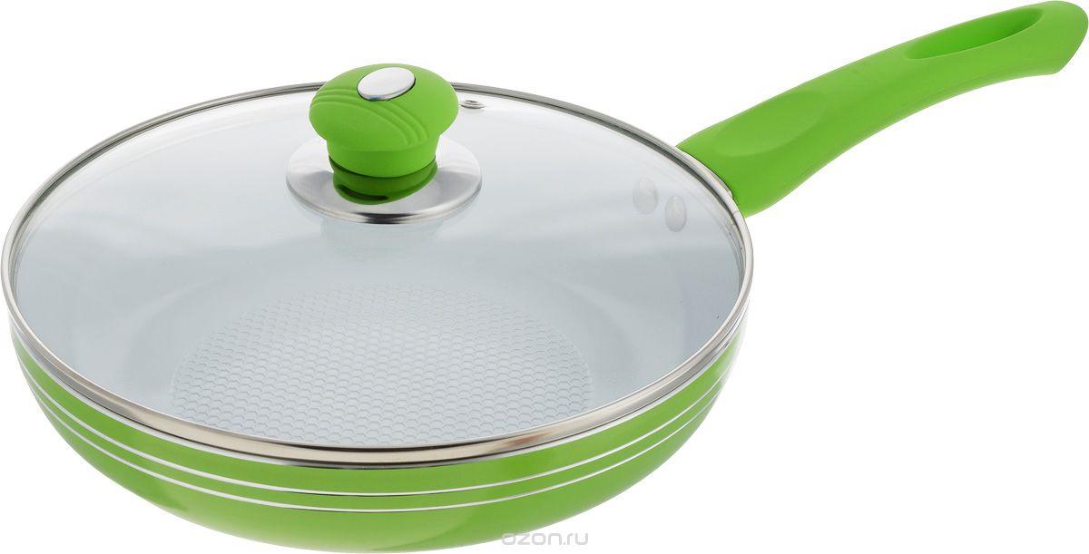 Сковорода Bohmann, 24 х 5 см, 2 л, цвет: зеленый. 6224WCRBH