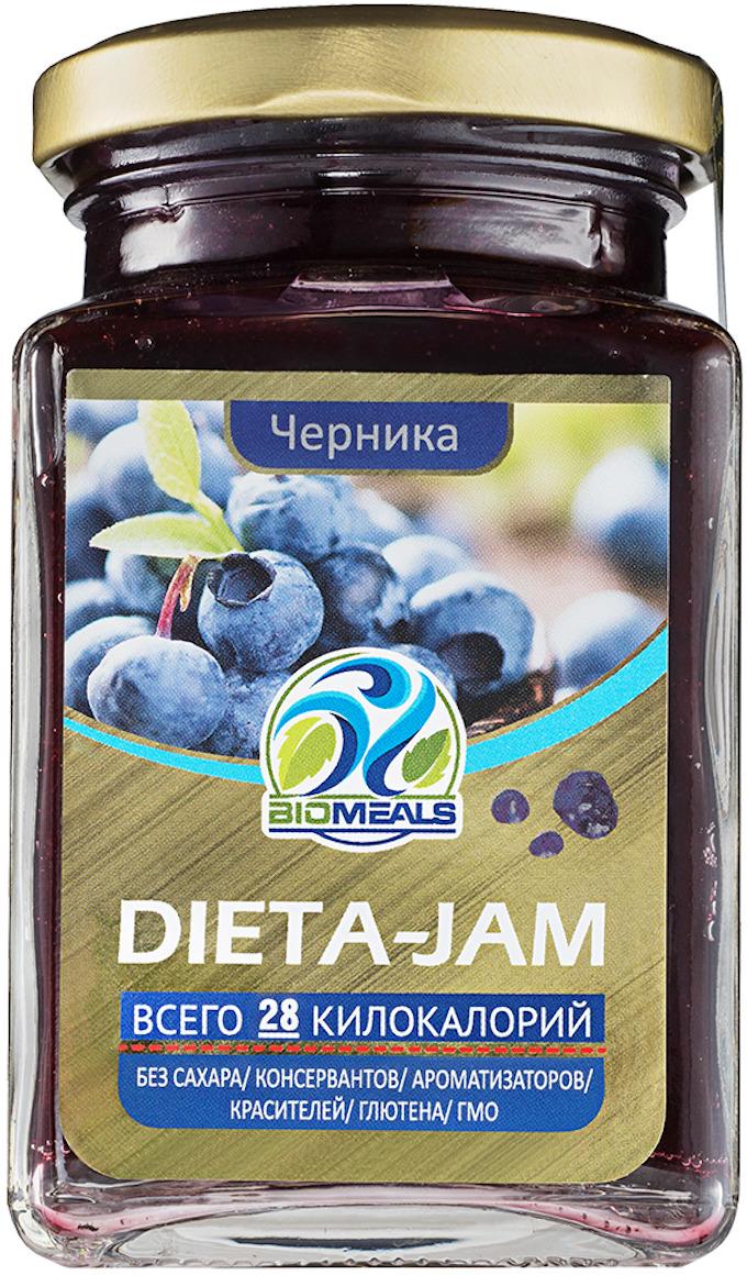 Джем BioMeals Dieta-Jam, черника, 230 гBM-DJ1-BLBEНизкокалорийные джемы из натуральных ягод и фруктов BioMeals. НЕ содержат сахара, обладают низкой калорийностью и идеальны для употребления с творогом, мюсли, йогуртом, кашей, чаем, могут использоваться как начинка при выпечке. В 10 раз меньше калорий и углеводов. Натуральные подсластители: сукралоза и стевия. Полезная клетчатка и витамины свежих ягод и фруктов. Яблочный пектин, выводящий токсины. НЕ содержит сахара, ароматизаторов, красителей, консервантов, глютена, ГМО.Состав: черника, вода, загуститель: пектин, регулятор кислотности: кислота лимонная, подсластители: сукралоза, стевия.