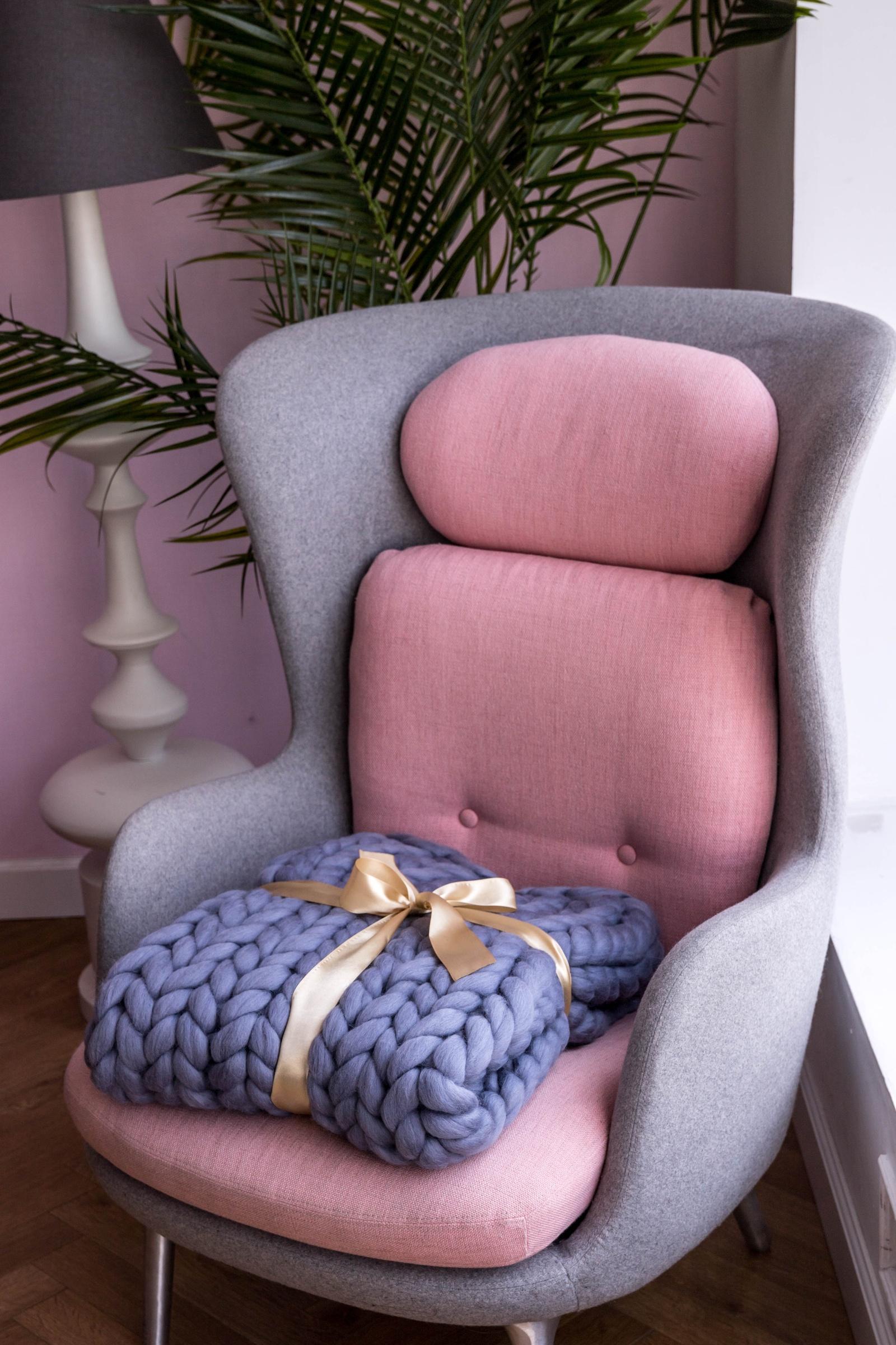 Плед Cloudlet, шерсть, цвет:светло-голубой, 100х150 см плед cloudlet шерсть цвет светло розовый 100х150 см