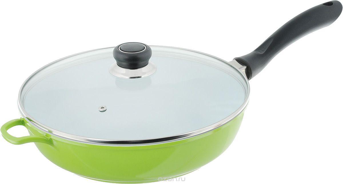 Сковорода Bohmann, 28 х 7 см, 3,6 л, керамическое покрытие, цвет: зеленый. 7528BHWCR