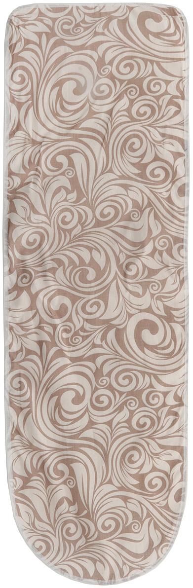 Чехол для гладильной доски Eva, 120 см х 38 см цвет:бежевый, коричневый, узоры чехол для гладильной доски eva узоры цвет розовый белый 120 х 38 см