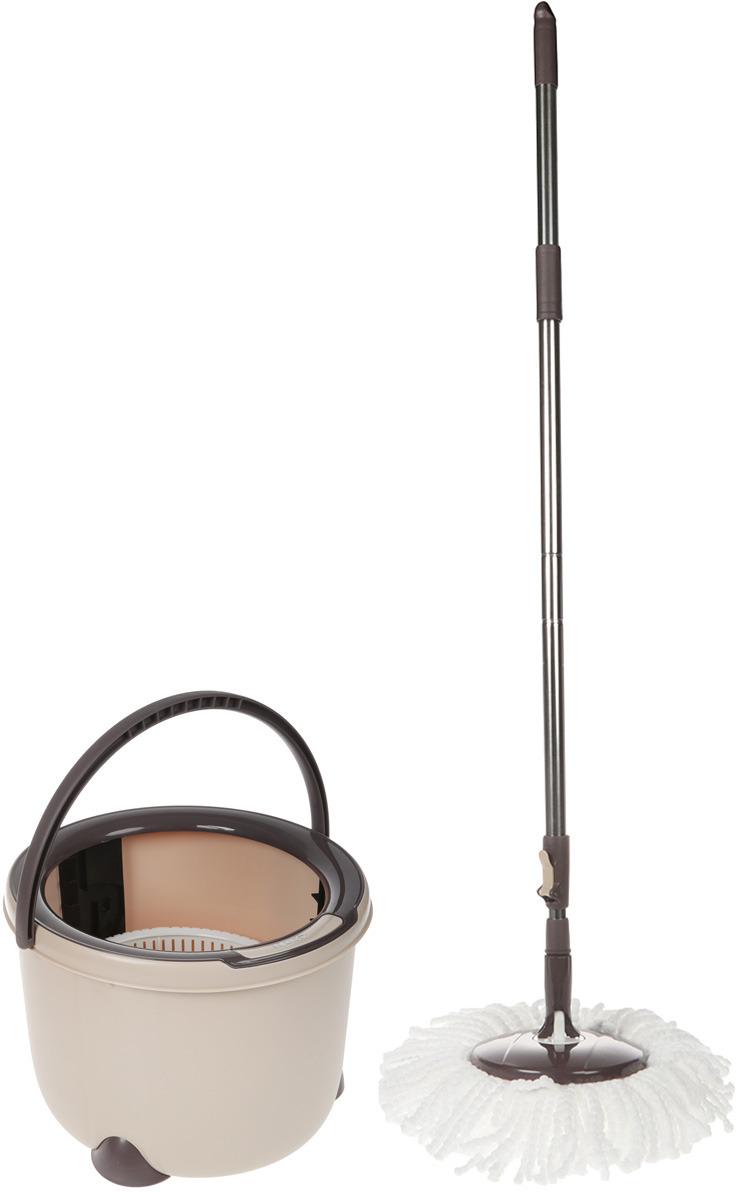 Набор для уборки Boomjoy Spin Mop Bucket, с отжимом и ведром швабра с ведром spin mop compact mix