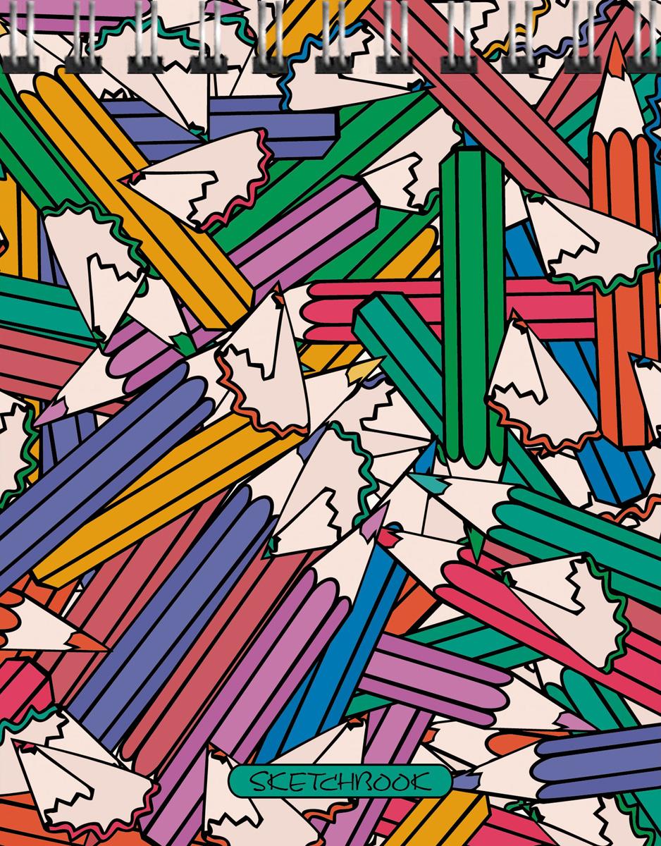 """Скетчбук Listoff """"Мир цвета"""", 80 листов, формат А6"""