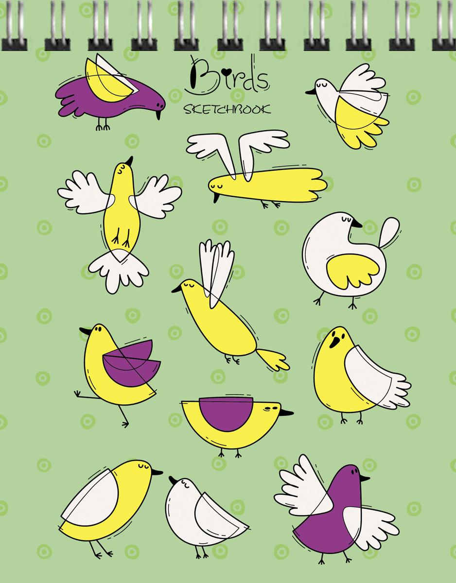 """Скетчбук Paper Art """"Важные птицы"""", 80 листов, формат А6"""