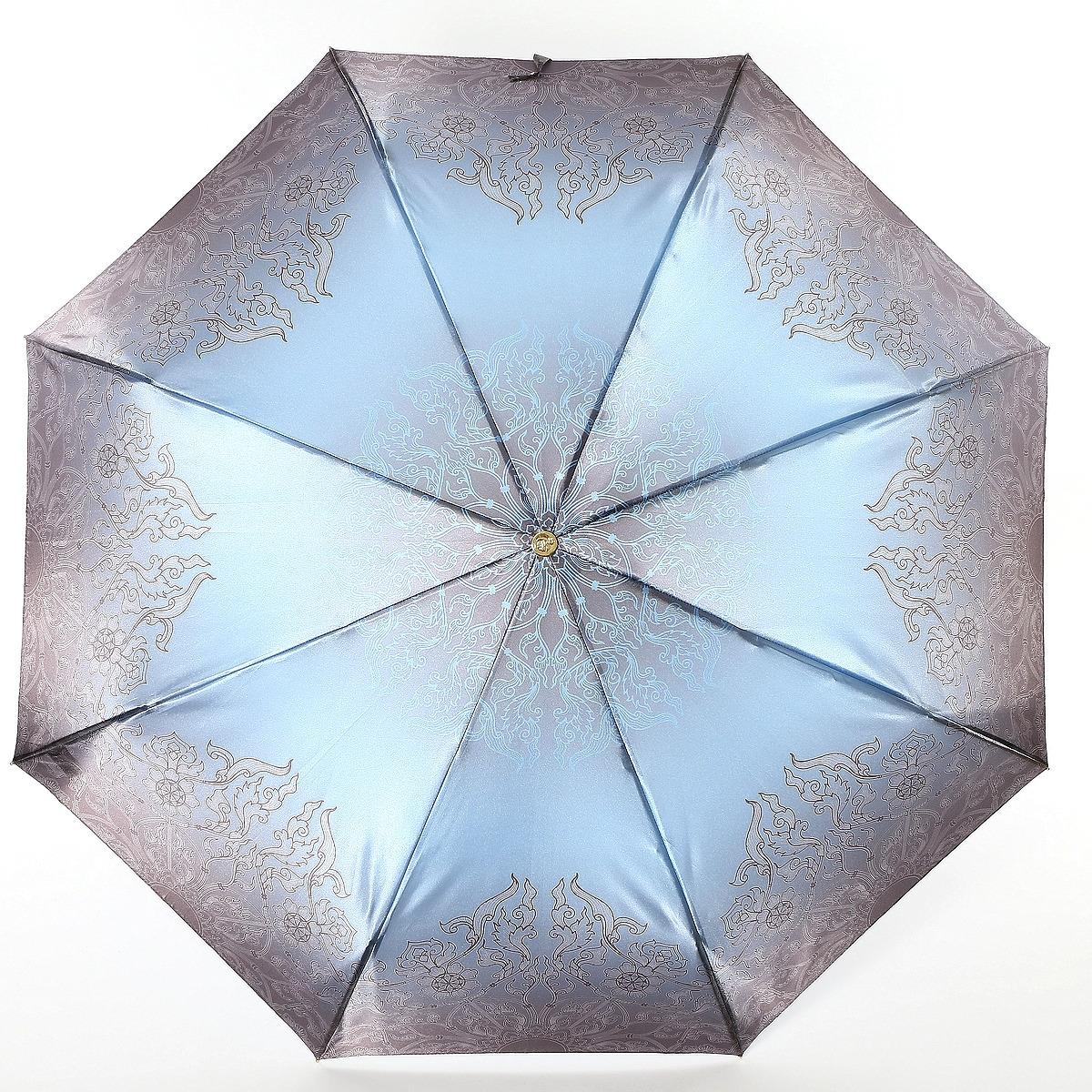 Зонт Trust 32473-1601, голубой, светло-серый зонт trust 32473 1603 женский полный автомат