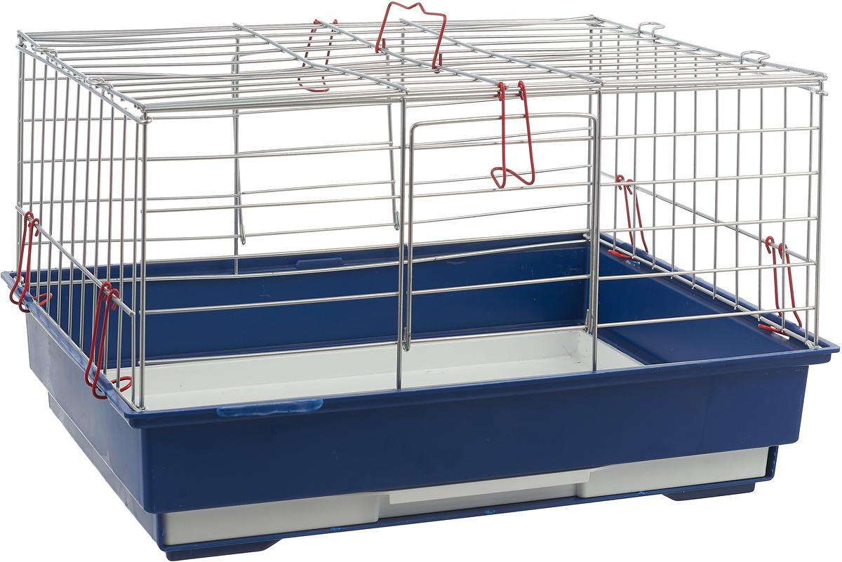 Клетка для грызунов Велес Lusy SV, цвет: синий, 30 х 42 х 25 см мостик для грызунов zoobaloo 25 х 12 см