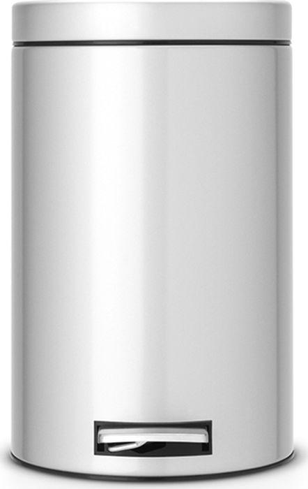 Бак мусорный Brabantia, с педалью, цвет: серый металлик, 12 л. 214660 бак мусорный brabantia с педалью цвет серый металлик 12 л 214660