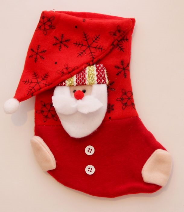 Новогоднее подвесное украшение Magic Time Дед Мороз, цвет: красный, белый, высота 20 см украшение новогоднее подвесное mister christmas дед мороз коллекционное высота 10 см us 661211