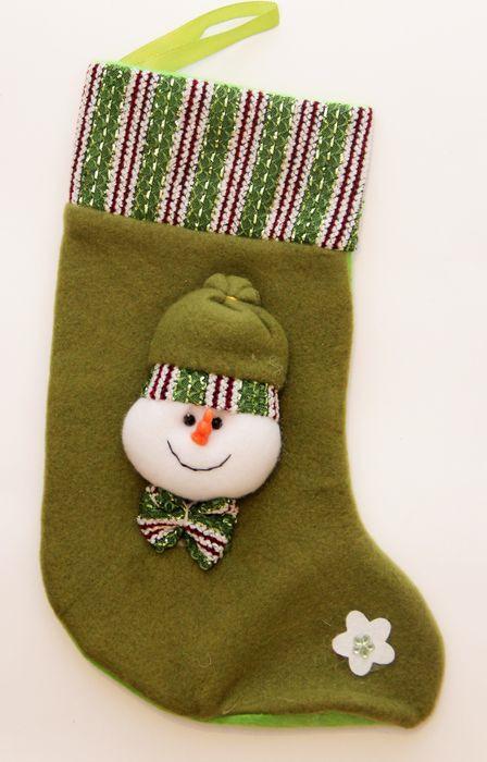 Новогоднее подвесное украшение Magic Time Снеговик, цвет: зеленый, белый, 27 х 12 см новогоднее подвесное украшение magic time венок цвет белый диаметр 12 7 см