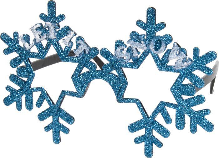 """Очки карнавальные Magic Time """"Снежинки"""", цвет: голубой. 75278"""