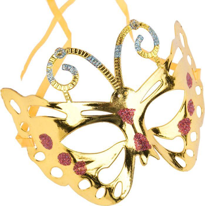 Маска маскарадная детская Magic Time, цвет: золотой. 75517