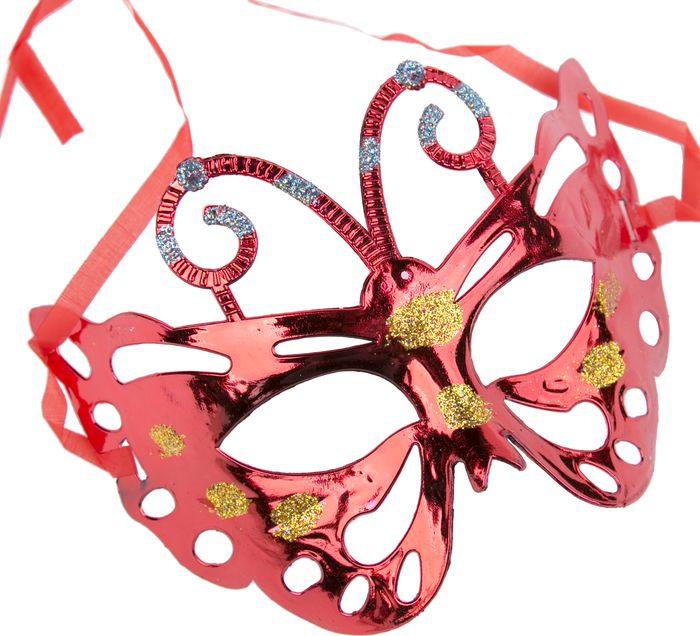 Маска маскарадная детская Magic Time, цвет: красный. 75518