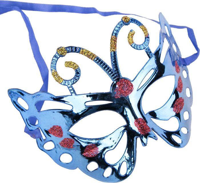 Маска маскарадная детская Magic Time, цвет: синий. 75520