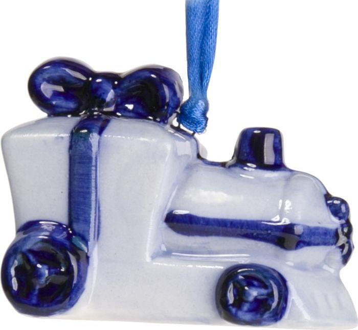 Новогоднее подвесное елочное украшение Magic Time Паровоз. 75910 magic time новогоднее подвесное елочное украшение гномик из керамики