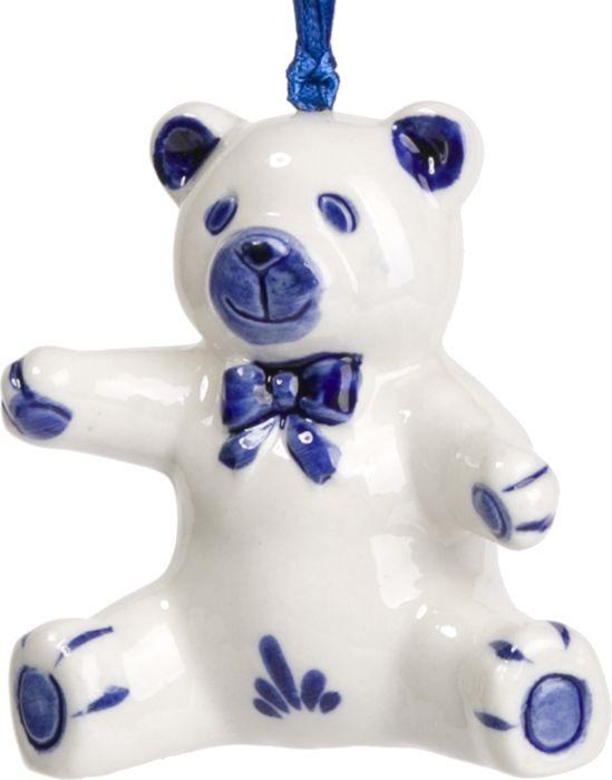 Новогоднее подвесное елочное украшение Magic Time Медвежонок. 75915 magic time новогоднее подвесное елочное украшение гномик из керамики