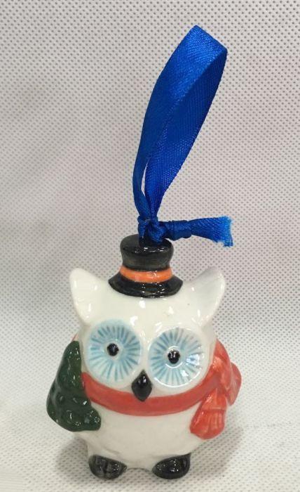Новогоднее подвесное елочное украшение Magic Time Сова. 75917 magic time новогоднее подвесное елочное украшение гномик из керамики