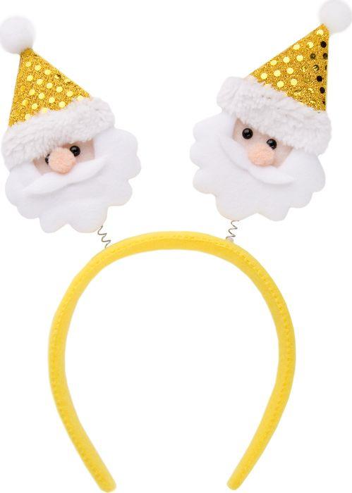 Фото - Новогоднее украшение Magic Time Желтый Дед Мороз. 76201 новогоднее украшение на голову magic time дед мороз в полосатом колпаке 78606