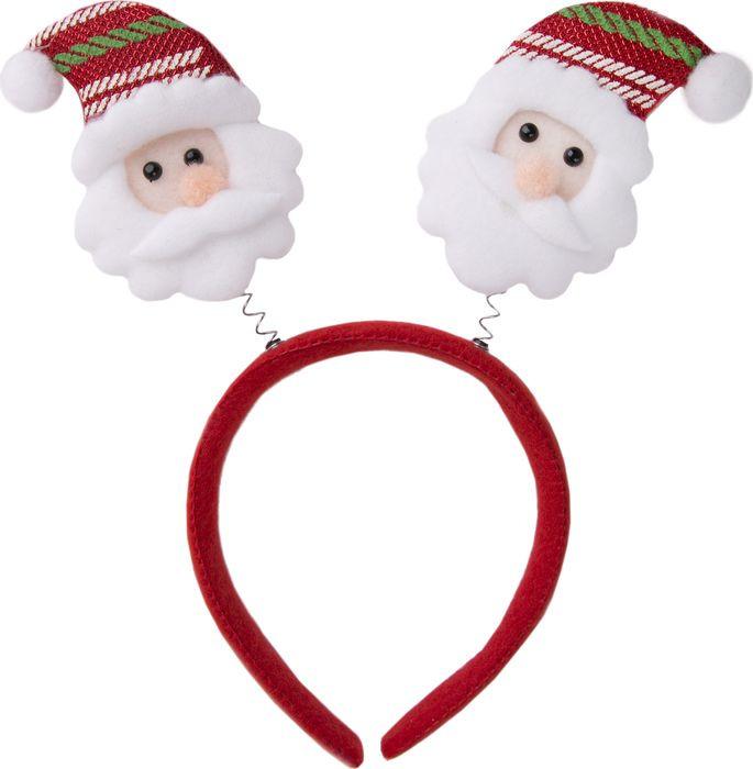 Новогоднее украшение Magic Time Дед Мороз в полосатом колпаке на голову. 76204 украшения на голову