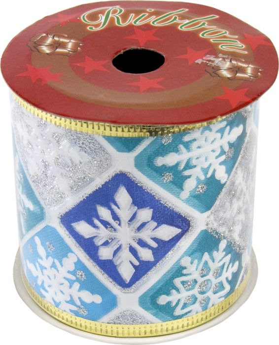 Лента новогодняя Magic Time Голубой снегопад, 6,3 х 270 см. 76282 новогодняя лента magic time золотое конфетти 78641